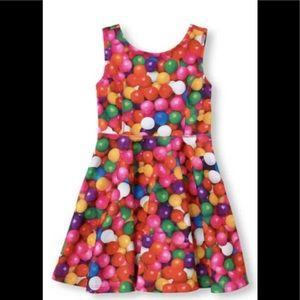 The children's place girl bubblegum dress Sz M 7/8